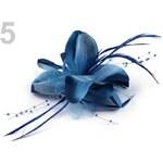 Stoklasa Brož Ø150mm s perličkami a peřím (1 ks) - 5 modrá