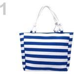 Stoklasa Textilní taška 35x40 cm pruhovaná (1 ks) - 1 modrá pařížská