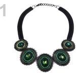 Stoklasa Kovový náhrdelník s kameny (1 ks) - 1 zelená malachitová