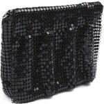 Stoklasa Kabelka 14x16 cm z kovových placiček (1 ks) - černá