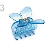 Stoklasa Skřipec do vlasů 3x5 cm motýl (1 ks) - 3 modrá chrpová