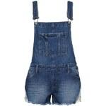 Tally Weijl Blaue Latzhosen-Shorts mit Spitze