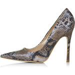 Topshop GALLOP Snake-Effect Court Shoes