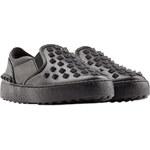 Valentino Rockstud Slip On Leather Sneakers
