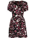 Topshop Floral Print Tea Dress