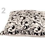 Stoklasa stok_700412 Povlak na polštář 40 x 40 cm se zipem Bára (1 ks) - 2 bílo-černá