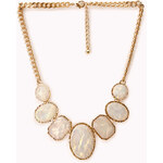 Forever 21 Goddess Iridescent Faux Stone Necklace