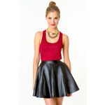 Tally Weijl Red Neppy Vest Top