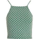Topshop '90s Tile Print Cropped Cami