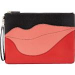 Diane von Furstenberg Lips Leather Clutch