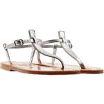 K.Jacques Metallic Leather Sandals