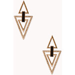 Forever 21 Angular Cutout Drop Earrings