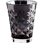 Tine K Home Svícen Facet glass Dark Grey 10 cm