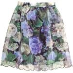 H&M Vzorovaná sukně z organzy