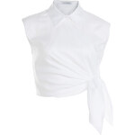 J.W. Anderson Cropped Cotton Top with Knot