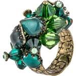 Konplott JELLY FISH WEDDING Ring dark green antique brass