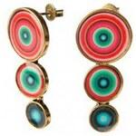 Desigual Boucles oreilles BOUCLE D'OREILLES pendientes 3 bolas rojo abril