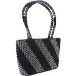 NewBerry Dámská kabelka ruční výroba #03 černo-stříbrná - dle obrázku
