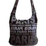 Mahel Moderní crossbody taška PARIS s šedým potiskem - dle obrázku