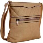 Sun-bags Crossbody kabelka s prošíváním H0359 přírodní hnědá - dle obrázku