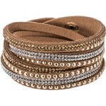 sweet deluxe WANDA Armband brown/crystal/topaz/gold
