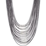 sweet deluxe LIV Halskette silver/grey