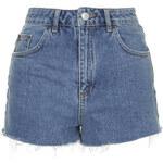 Topshop MOTO Mom Shorts im Vintage-Stil - Stone Medium