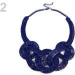 Stoklasa Kovový náhrdelník proplétaný (1 ks) - 2 modrá námořnická