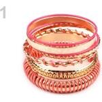 Stoklasa Sada náramků (1 sada) - 1 růžová sytá