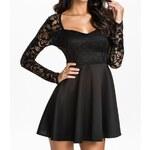 I-Moda Černé krajkové šaty DAMSON d-sat411