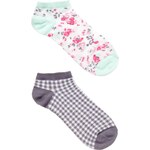 Tally Weijl Floral & Gingham Check Sock 2-Pack