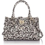Guess Greyson Small Satchel Leopard Bag