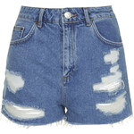 Topshop MOTO Vintage Ripped Mom Shorts