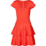 Milly Cap Sleeve Dress with Tiered Skirt