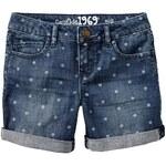 Gap Polka Dot Denim Midi Shorts - Denim