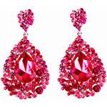 Náušnice s růžovými krystaly LA FEMME