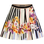 Alberta Ferretti Printed Cotton Skirt