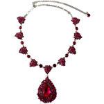Stříbrný náhrdelník s růžovými krystaly LA FEMME