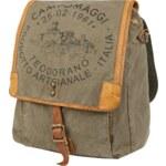 Campomaggi Vintage-Rucksack aus Leder und Baumwolle