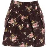 Švestková květovaná sukně LA FEMME