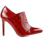 SERGIO TODZI Dámské boty imitace hadí kůže červené