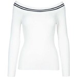 Tally Weijl White Knitted Off Shoulder Jumper