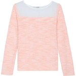 Tally Weijl Pink Knitted Jumper with Sheer Panel