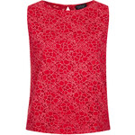 Topshop Rose Burnout Shell Top