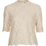 Topshop Lace Embellished Blouse