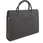 Dámská kabelka černá kožená - Hexagona 462698 černá