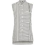 Topshop Sleeveless Mixed Stripe Shirt