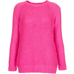 Topshop Knitted Mix Stitch Jumper