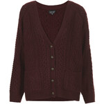 Topshop Knitted Angora Cable Cardi