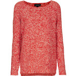 Topshop Knitted Two Tone Slouch Jumper